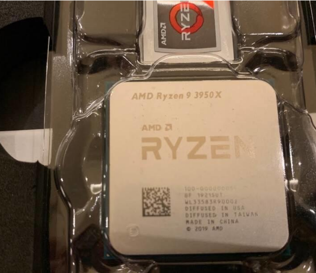 Ryzen 3950X Pictured on Reddit As Release Draws Near – AdoredTV