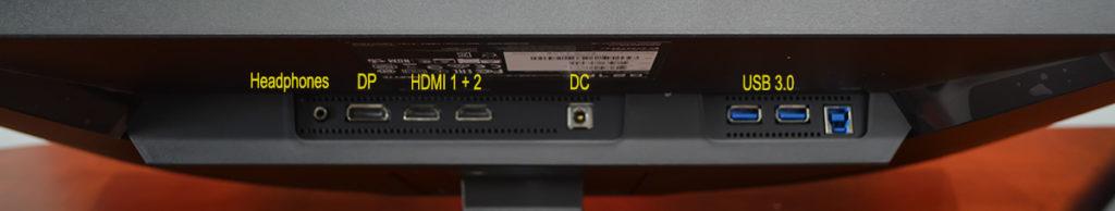 Gigabyte G27F Inputs